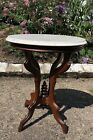 1870-1890%E2%80%99s+Eastlake+Style+Antique+Mahogany+Marble+top+Table%2FPlant+Stand