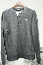 Abercrombie & Fitch Mens Long Sleeve Henley Muscle Size Medium