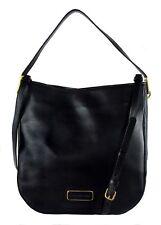 MARC JACOBS LIGERO Mineral Black Leather Hobo Bag Msrp $428.00