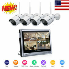 Lcd 8Ch 1080P Wifi Nvr Wireless Cctv Surveillance Security Video Camera System
