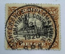 1920 DIPLOMATIC CONFERENCE SON CANCEL ON 35C BELGIUM STAMP