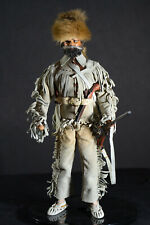 """Rare Antique Davy Crocket or Daniel Boone 12"""" Figure Doll OutFit Real Leather"""