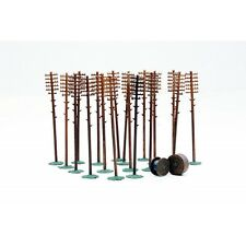 OO Accessories plastic kit Telegraph Poles+cable drum - Dapol Kitmaster C024