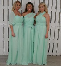 Tu Es Belle ® Multi Way Long Chiffon Bridesmaid  Dress Prom Gown Infinity  Maxi
