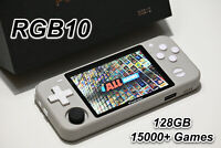RGB10 Retro Handheld Console w/ Custom 128GB SD Card - Ready to Play - US Seller