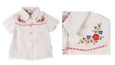 Kurzarm Mädchen-Tops, - T-Shirts & -Blusen mit Bestickung aus 100% Baumwolle