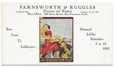 1925 Blotter - San Francisco Diamond Jubilee - Farnsworth & Ruggles Draying