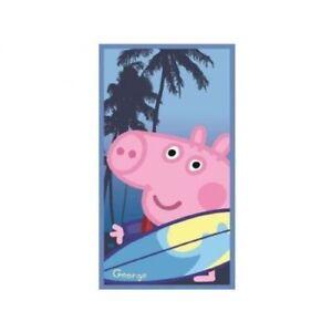 PEPPA PIG GEORGE TELO MARE 70X140 CM PISCINA CAMPEGGIO RELAX TEMPO LIBERO BAGNO
