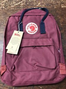 Fjallraven Kanken Medium Burgundy Backpack NWT