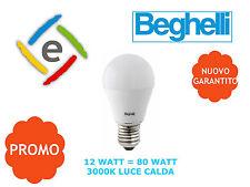 Beghelli 56933 Lampadina Led Goccia 12W = 80W E27 Luce Calda 3000K