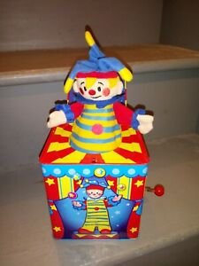 Schylling's Silly Circus Jack in the Box Pop Up Toy Hand Crank Clown Music Box