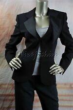 $3795 New GIORGIO ARMANI Black Satin Collar Stylish Cut Jacket 44 10