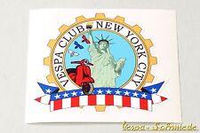 "DECORO Adesivo ""VESPA CLUB NEW YORK"" - USA America America US Ny Sticker Club"