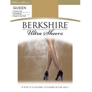 Berkshire Ultra Sheers Control Top Nude Pantyhose Size Queen 1X-2X