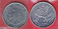 S60,   SAN MARINO,  50 LIRE  GALLO 1974 DA SERIE DIVISIONALE  KM 35,   FDC / UNC