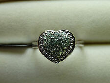Rare Natural Colour Change Alexandrite Heart 925 S Silver Ring Size N-O/7
