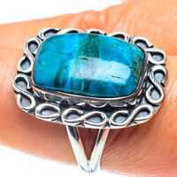Chrysocolla 925 Sterling Silver Ring Size 8.5 Ana Co Jewelry R59166F
