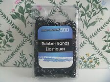 500 Pcs. New Elastic Bands Ooak Hair Redo Friend Bracelets - All Solid Black