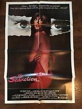 "1982 "" THE SEDUCTION "" Original Movie Poster 41x27 Staring Morgan Fairchild"