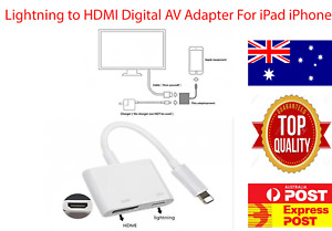 Lightning Adapter to HDMI Digital TV AV Adapter Cable For iPad iPhone