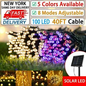 Solar Powered 100LED String Light Garden Path Yard Decor Lamp Outdoor Waterproof