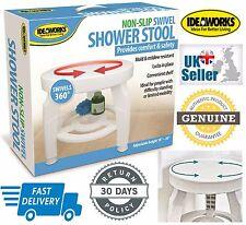 Ideaworks 360 ° sedile girevole portatile anti-scivolo per doccia o vasca sgabello aiuto * UK Venditore *