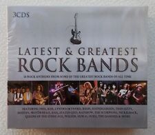 Various Artists : Latest & Greatest Rock Bands ~ 3 CD Boxset ~ Brand New Sealed