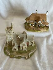 Lot of 2 Lilliput Lane Houses Periwinkle Cottage St. Lawrence Church Read Below
