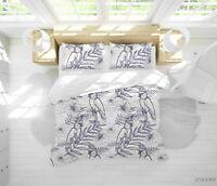 3D Hand Drawn Bird Floral Quilt Cover Sets Pillowcases Duvet Comforter 71