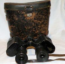VTG German Binoculars Voigtlander Braunschweig 6x42 w Case - ? WWII MILITARY ?