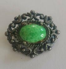 glass brooch Vintage peking