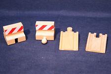 BRIO 33385 Set: 2x Auffahrten und 2x Prellbock - UNbespielt - Stop & Ramp Tracks