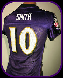 BALTIMORE RAVENS TROY SMITH REEBOK ON FIELD REPLICA JERSEY YOUTH SMALL NWOT