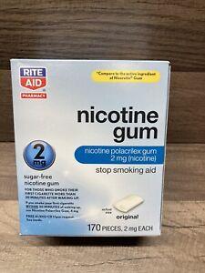Rite Aid Nicotine Gum 2mg 170 Pieces Exp 02/2022 Sugar Free, Free 🆓️ Shipping!