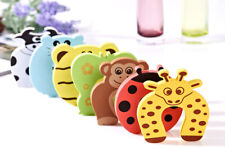 5Pcs Safety Foam Door Jammer Guard Finger Protector Stoppers Animal Designs