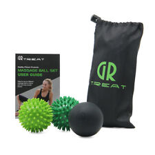 GR Massage Ball Set-Lacrosse and Spiky Ball Combo -Perfect for Body/Foot Massage