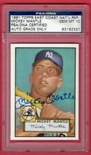 1952 Topps 311 Mickey Mantle 1991 East Coast Nat'l Rep. PSA 10 Auto