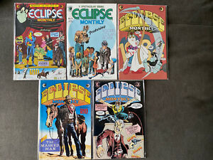 ECLIPSE MONTHLY #1 3 4 5 6 1983, Ditko, Rio, Lot Of 5 issues