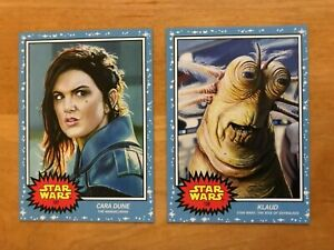 Topps Star Wars Living Set CARA DUNE & KLAUD 2-Card Bundle 127&128 Gina Carano