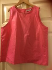 New no tag.Next pink top,sleeveless size 14,cotton/polyester,m/wash,open at back