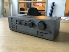 Late grey Quad 44 Pre amplifier with RCA and DIN input connections, superb sound