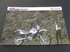 1993 Suzuki DR650R DR650 DR 650 foldout Brochure