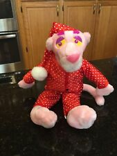 BIG 1999 PINK PANTHER POLKADOT HEART ROBE VALENTINE LOVER PLUSH STUFFED ANIMAL