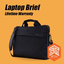 """STM 14"""" 15"""" 15.6"""" Laptop Water Resistant Gamechange Briefcase Black Office Bag"""