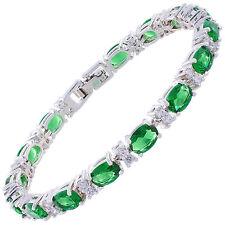 Armbänder aus Weißgold mit Smaragd Edelsteine