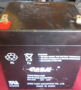 1 - CASIL CA-1240 12V 4AH Rechargeable Sealed Lead Acid Battery