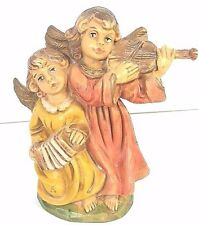 Vintage Fontanini Style Angels With Violin And Concertina Italy