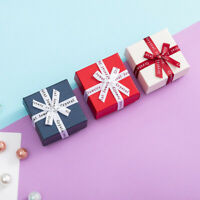 Jewelry Earrings Ring Necklace Gift Boxes Square Bow Case For Package Gift Box v