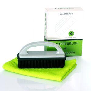 CAREApro Rubber Brush + Staubtuch Tierhaarentferner Fusselbürste Fusselrolle