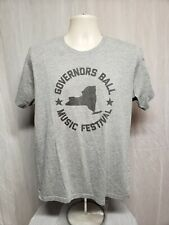 2016 Governors Ball Music Festival Adult Large Gray TShirt